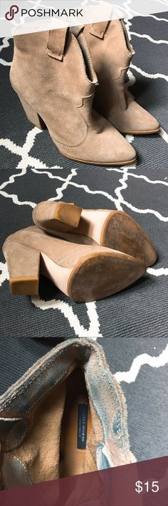 Zara Woman Suede Booties Size 7, good condition, has jeans rub off inside of the booties. Shoes Ankle Boots & Booties