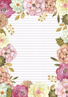 Best Picture For diy stationery items For Your Taste You are looking for some. Best Picture For diy stationery items For Your Taste You are looking for something, and it is go Printable Lined Paper, Free Printable Stationery, Flower Background Wallpaper, Flower Backgrounds, Notebook Paper, Stationery Paper, Stationery Items, Vintage Lettering, Note Paper