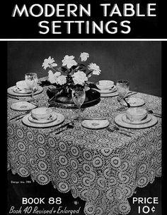 Modern Table Settings | Book No. 88 | The Spool Cotton Company