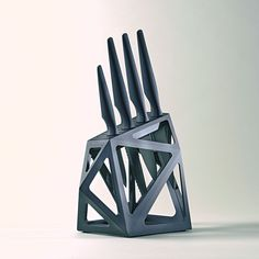 Precision Stainless Steel // 4 Piece Set and Knife Block