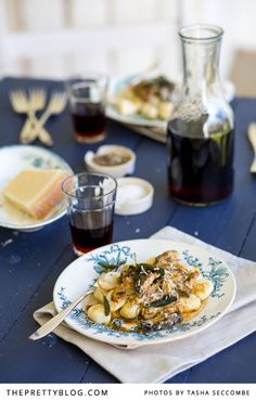 POTATO GNOCCHI WITH PAN-FRIED MUSHROOMS AND SAGE BUTTER