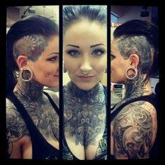Amazing tattoo work! Gorgeous girl!