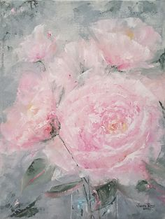 Canvas Home, Canvas Wall Art, Oil On Canvas, Cactus Painting, Oil Painting Flowers, Peony Rose, Pink Garden, Photo Canvas, Peonies