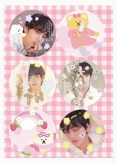 Aesthetic Pastel Wallpaper, Pink Aesthetic, Bts Tweet, Bts Backgrounds, Journal Stickers, Foto Bts, Bts Boys, Cute Stickers, Cute Photos