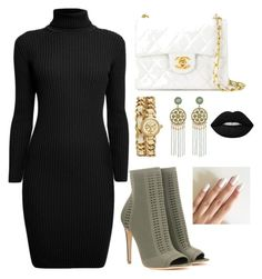 """set4"" by mureet ❤ liked on Polyvore featuring Gianvito Rossi, Rumour London, Chanel, Tory Burch and Lime Crime"