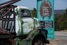 daily pie cafe in pietown by kthread, via Flickr - New Mexico Apple Pie w/ green chilies and pinons. Gotta get back to the Daily Pie!