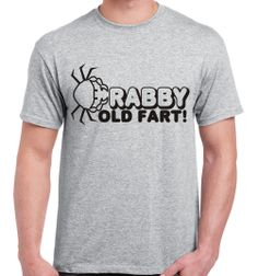 Crabby old fart t-shirt funny fathers day gift idea