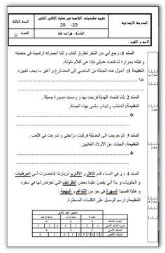 كل امتحانات الثلاثي الثاني كل المستويات من الأولى إلى السادسة 3 نماذج من كل إمتحان ~ موارد المعلم