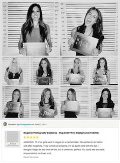 Mugshot Photography Backdrop - Photo Booth Mug Shot Day after lineup picture-Weddings, Bachelorette, Birthday party,etc...