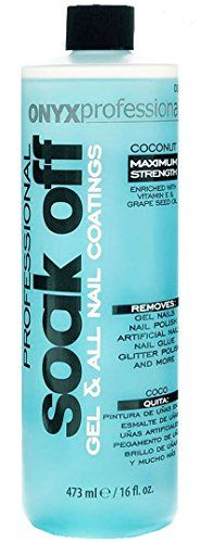 Onyx Professional Soak Off Shellac & Gel Nail Polish Remover Coconut Scented 16 Oz – Removes Gel Nails, Nail Polish, Artificial Nails, Nail Glue, Glitter Polish & More. Remove Shellac Polish, Gel Nail Polish Remover, Remove Acrylics, Gel Nail Removal, Soak Off Gel Nails, Glue On Nails, Acrylic Nail Art, Gel Nail Art, Jitter Glitter