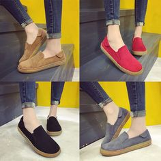 Scrub Comfortable Casual Round Flat Shoes For Women