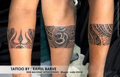 Customized Lord Shiva theme armband tattoo by : Rahul Barve Skin machine tattoo studio . Hindu Tattoos, God Tattoos, Body Art Tattoos, Tribal Tattoos, Turtle Tattoos, Wrist Band Tattoo, Arm Tattoo, Sleeve Tattoos, Band Tattoo Designs