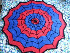 Spiderman-blanket by AnneM (This is a knitting pattern but maybe I can find a crochet pattern that will work.)