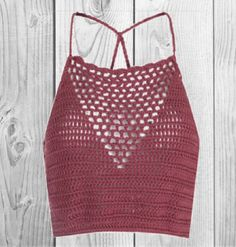 FOR SALE Dusty Rose Crochet Crop Top Light crochet stitch strappy crop top, shows cleavage R 290.00