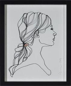 sculptural drawing by christina james nielsen