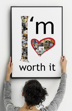 I am worth it - Love - we all deserve love but some of us unconsciously believe they don't deserve to be loved. Reprogram your mind with this lovely positive collage. Author Quotes, Wisdom Quotes, Love Quotes, Happy Thoughts, Positive Thoughts, Happiness Challenge, I Am Worthy, Healthy Skin Care, Fitness Motivation Quotes