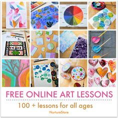 Pen and paints at the ready! Here's a wonderful selection of online art lessons for children that you can do at home or Art Lessons Online, Art Education Lessons, Online Art Classes, Art Lessons For Kids, Art For Kids, Art Online, Class Art Projects, Kids Art Class, Kindergarten Art Lessons