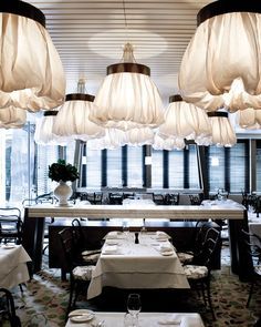 Bistro Guillaume lighting design by Electrolight