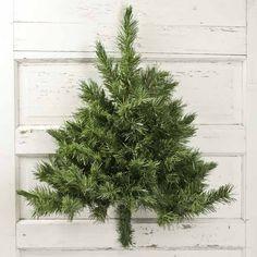 wall mounted half artificial pine tree - Half Christmas Trees