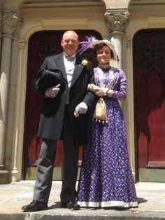 And the beautiful wedding planner and her consort. #MurdochMysteries #memories