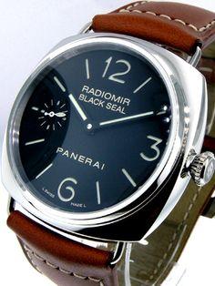 Paneria Radiomir as clean as a design comes. Panerai Radiomir Black Seal, Watch One, Man Style, My Black, Selling On Ebay, Luxury Watches, Omega Watch, Clocks, Bracelet Watch