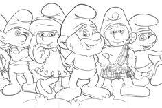 Resultado de imagem para desenhos para colorir smurfs