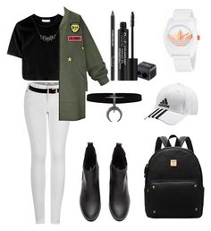 """""""#outfitforschools"""" by kiaraloveh on Polyvore featuring 2LUV, WithChic, adidas, A Weathered Penny and Rodial"""