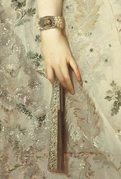 ca. 1765 Maria Luisa of Parma, Princesa de Asturias by Anton Rafael Mengs (Coleccion Real) fan