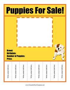 This free, printable green pet sale flyer can be used to sell ...