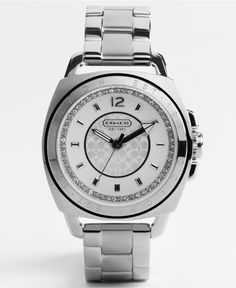 COACH BOYFRIEND BRACELET STAINLESS STEEL CRYSTAL WATCH - Women's Watches - Jewelry & Watches - Macy's