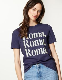 f0716dec4 Pure Cotton Roma Straight Fit T-shirt