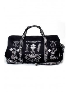 KTZ Church Embroidery Travel Bag - Black/White