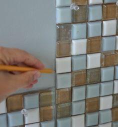 Bathroom DIY  Make Your Own Gorgeous Tile Mirror - DIY  Crafts