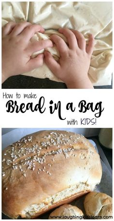 Learn how to make bread in a bag with kids. Great for developing cooking skills and learning science and chemical reactions. This cooking activity is great to do at home, at school or to make when on camp. Healthy Kids, Healthy Cooking, Cooking Tips, Cooking Quotes, Kids Cooking Recipes, Kid Recipes, Salad Recipes, Healthy Recipes, Cooking With Kids Easy