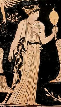 Iaso was the ancient Greek goddess of cures, remedies and modes of healing. She was a daughter and attendant of the medicine-god Asclepius. Her sisters included Panacea (All-Cure) and Hygeia (Good-Health). Ancient Greek Clothing, Ancient Greek Art, Ancient Greece, Ancient History, Greek Gods And Goddesses, Greek And Roman Mythology, Rome, Greek Fashion, Art Antique