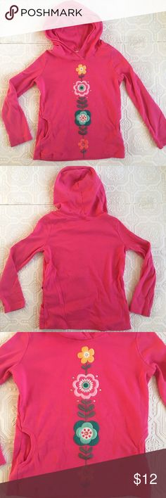 Gymboree Embroidered Hooded L/S Tee Bright pink 100% cotton hooded long sleeve top from Gymboree. Colorful embroidered flowers down the front. GUC for some pilling (see last picture), but very wearable and a terrific spring transitional shirt! Size 7. Bundle for additional discount! Gymboree Shirts & Tops Tees - Long Sleeve