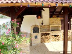 Kemax - Szolnoki kerti konyha Pergola, Oven, Outdoor Decor, Home Decor, Terrace, Homemade Home Decor, Kitchen Stove, Arbors, Decoration Home