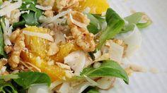 Rezept: Feldsalat mit Orangen und Walnüssen