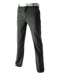 * TheLees Mens Business Slim Straight Fit Flat Front Dress Pants
