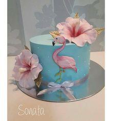 Flamingo Party, Flamingo Cake, Flamingo Birthday, 26 Birthday Cake, White Birthday Cakes, Luau Birthday, Birthday Parties, Fancy Cakes, Cute Cakes