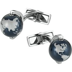 Buy Montblanc Heritage Spirit Globes Cufflinks, Black/Silver from our All Men's Accessories range at John Lewis & Partners. Name Jewelry, Silver Jewelry, Cufflinks And Tie Clips, Men's Cufflinks, Luxury Pens, Jewelry Showcases, Timeless Fashion, Black Silver, Jewels