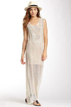 Love Stitch Lace Maxi Dress