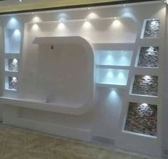 Wall Unit Designs, Living Room Tv Unit Designs, Tv Wall Design, Pop Design, Tv Wall Decor, Ceiling Decor, Tv Wall Panel, Plafond Staff, Lcd Units