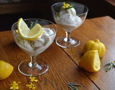 Lavender and Lemon Ice Cream - made from coconut milk & honey
