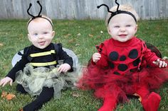 Notion 2 Craft: Halloween Tutu Costume(s).  Bumble Bee or Ladybug (tutorial)