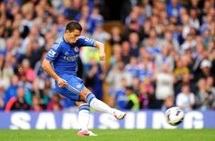 25th Aug 2012 Chelsea 2 - 0 Newcastle - With regular penalty taker Lampard not on the field of play, it was Hazard who took responsibility, and the 21-year-old scored his first goal for the club with a powerful, low strike into the bottom corner.