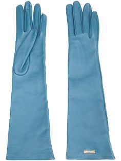 Gloves for Women - Designer Accessories Blue Gloves, Long Gloves, Lambskin Leather, Leather Gloves, Dsquared2, Urban Outfitters, Polyvore, Accessories, Shopping