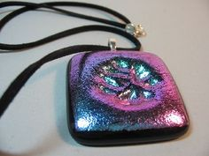 Embossed Fused Glass Necklace