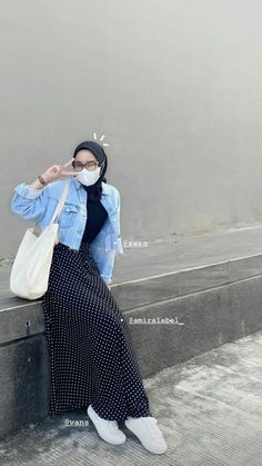 Casual Hijab Outfit, Casual Outfits, Fashion Outfits, Ootd Hijab, Hijab Fashion Summer, Muslim Fashion, Hijab Fashion Inspiration, Korean Outfits, Simple Outfits