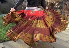 Tribal Belly Dance Skirts, various hem widths,  Gypsy skirt
